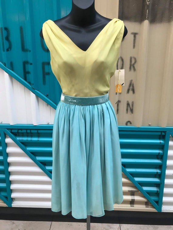 1960s 'Minx Modes' Deadstock Chiffon Two-Toned Co… - image 3