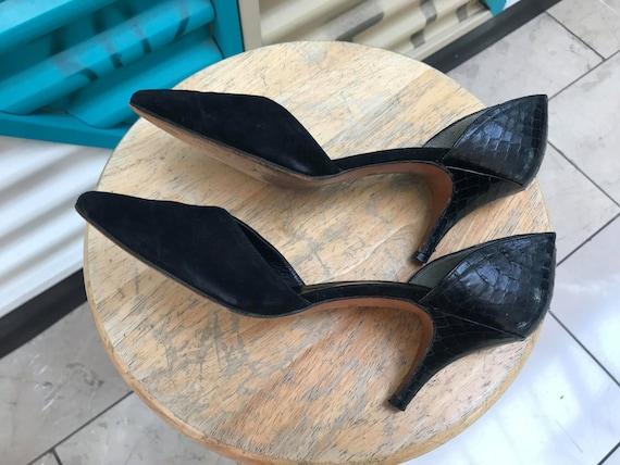 """Vintage """"Halston"""" Black Heels Size US 7N - image 5"""