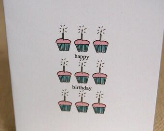 Birthday cards/set of 8