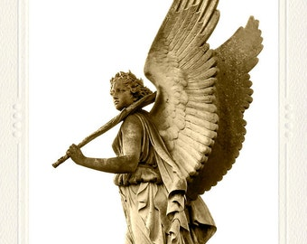 Angel Wings Marble Statue handmade photo note card