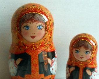 Russian nesting doll Russian dolls matryoshka Nesting dolls wooden  Matryoshka dolls for kids Matryoshka toy Babushka dolls wabi sabi