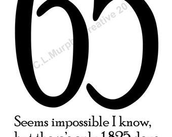 DOWNLOAD 65th Birthday Turning 65 Happy Card Humor Funny Milestone