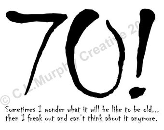 DOWNLOAD 70th Birthday Turning 70 Happy Card Humor Milestone