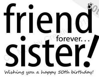 DOWNLOAD Sister 50th Birthday Turning 50 Milestone