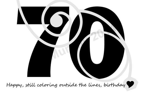 DOWNLOAD 70th Birthday Card Turning 70 Happy Friend Milestone Humor
