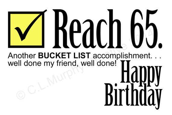 DOWNLOAD 65th Birthday Turning 65 Bucket List