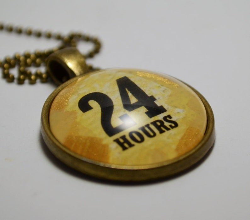 24 Hours Sobriety Recovery Pendant Necklace AA NA Jewelry CL Murphy Creative CLMurphyCreative