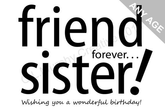 Download Sister Birthday Sister Birthday Card Happy Etsy