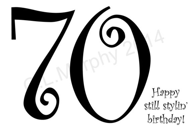 DOWNLOAD 70th Birthday Card Turning 70 Happy