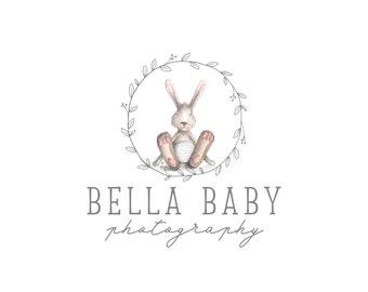 Premade conception de Logo, logo animaux, enfants vêtements Logo, Logo de la Boutique de bébé lapin mignon, photographie, logo, Blog en-tête 341