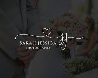 Photography Logo Design, Photography Watermark, Initial Monogram Logo, Watermark Logo, Premade Logo, Rose Gold Logo, Calligraphy Logo 481
