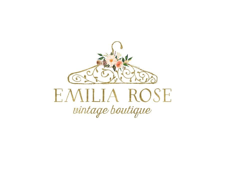 Premade de diseño de la insignia de oro de la boutique | Etsy