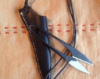Viking Scissor Hanger~ Norse Thread Snip Hanger~Primitive Scissors~