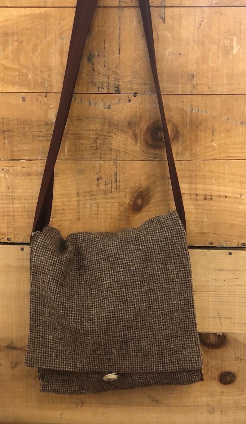 Viking HaversackBrown Tweed Messenger Bag Viking  d22b962d2cf98