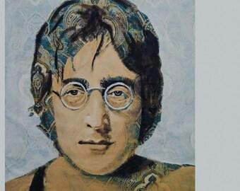John Lennon Paisley 32X36