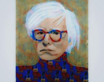 Spider-Andy 32X36 Andy Warhol (/ˈwɔːrhɒl/;[1] born Andrew Warhola;