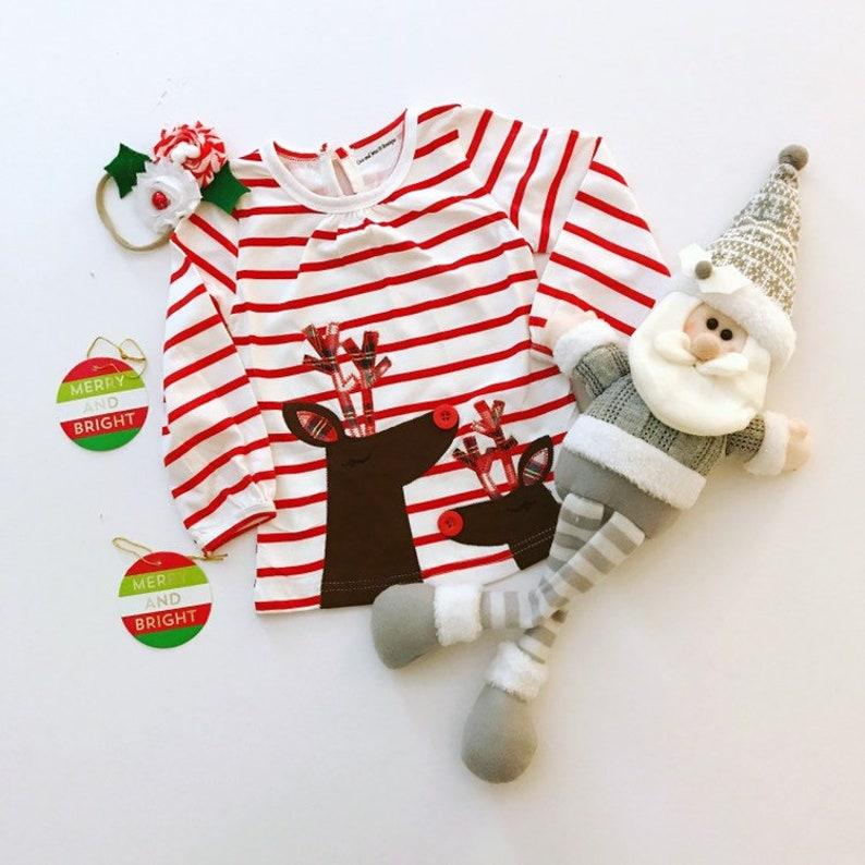 6662a66d600 Baby Girls Holiday Reindeer Dress Holiday Dress Christmas
