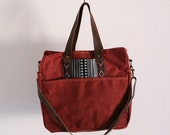 Waxed Canvas Diaper Bag Tabasco