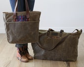 Market tote with inside pockets
