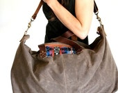 Waxed Canvas Weekend Getaway Bag Walnut Brown