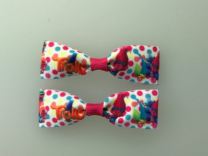 Mini Caillou Hair Bows with Alligator Clips