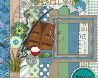Instant Download ~Fixin' to Go Fishing~ Digital Scrapbook Kit