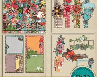 Friends BUNDLE Scrapbook Collection ~Digital Scrapbook Kit ~ Instant Download