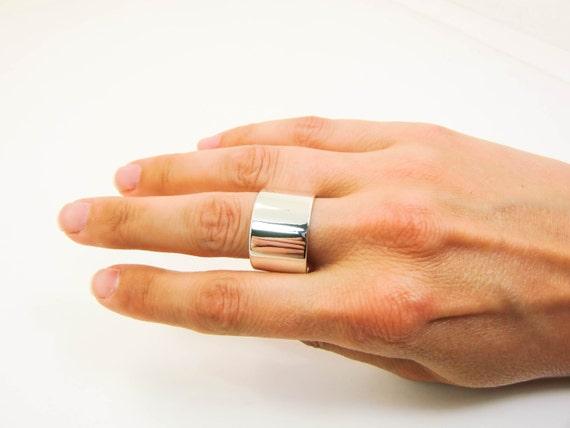 Sterling Silber Ring Breit Silber Ring Dicken Silbernen Etsy