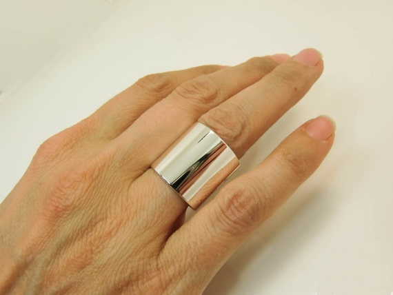 Sterling Silver Ring Extra Wide Silver Band Super Wide  e997c9bb5