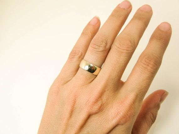 Goede 14 karaats gouden Ring Pure 14K gouden bruiloft Band brede | Etsy BU-95