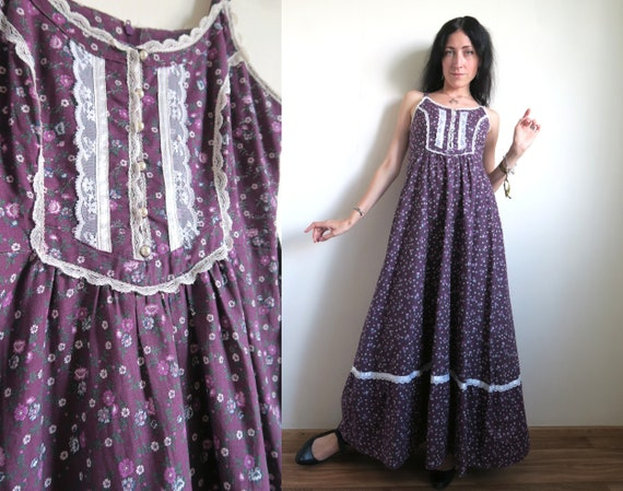 Gunne Sax Dress by Jessica McClintock, Floral Cali