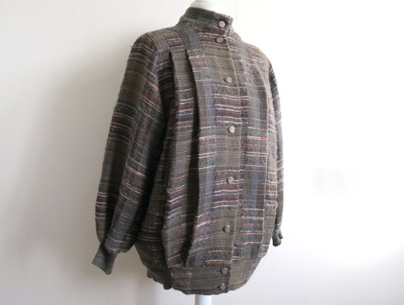 80's Oversized Coat by AROLA, Finland, Patchwork S