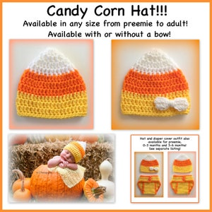 Choose of Ghost or Candy Corn 03ms. Ghost Halloween Costume Ghost Hat Newborn Photo Prop Swaddle Sack  Cocoon Hat set