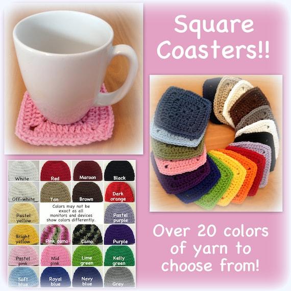 Square Coasters Granny Coasters Mug Rug Mix And Match Red