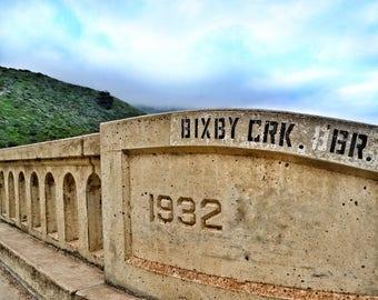 Bixby Creek Bridge 1932 Photo Print