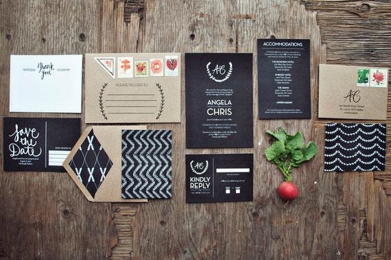 Chalkboard Wedding Invitations: Items Similar To Classic Chalkboard Wedding Invitation