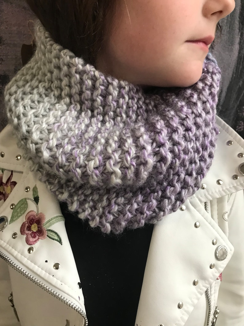 Child's Cowl Scarf name your color image 0