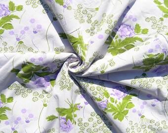 Vintage Einzelner Bettbezug Mitte Jahrhundert Blumen Baumwolle Bettdecke  Abdecken, Lila Blüten Mit Grünen Twin Bettbezug, 1970er Jahre Florale  Bettwäsche