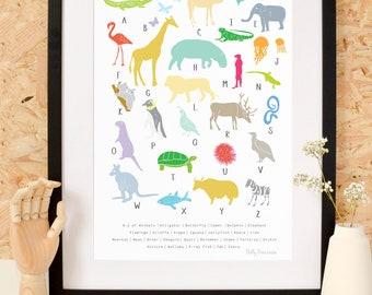 A To Z Animals Print
