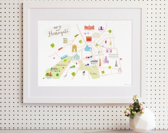 Map of Harrogate Art Print