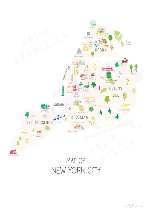 New York City Boroughs Map - All Five Boroughs