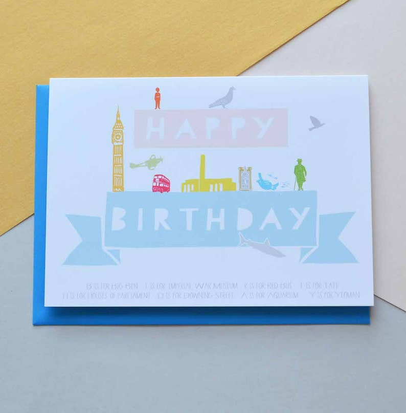 Happy Birthday London Card Free UK Delivery