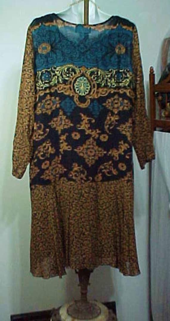Vintage Boho Flapper Dress, Carole Little Bohemia… - image 5