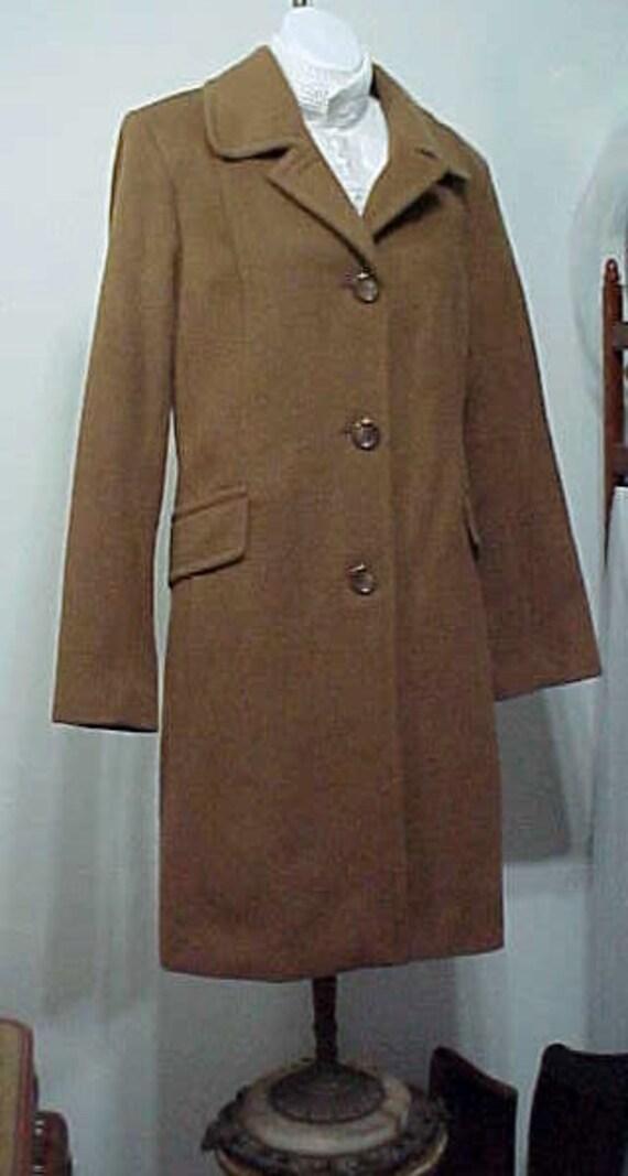 Camel Coat, Vintage Anne Klein Classic Camel Coat,