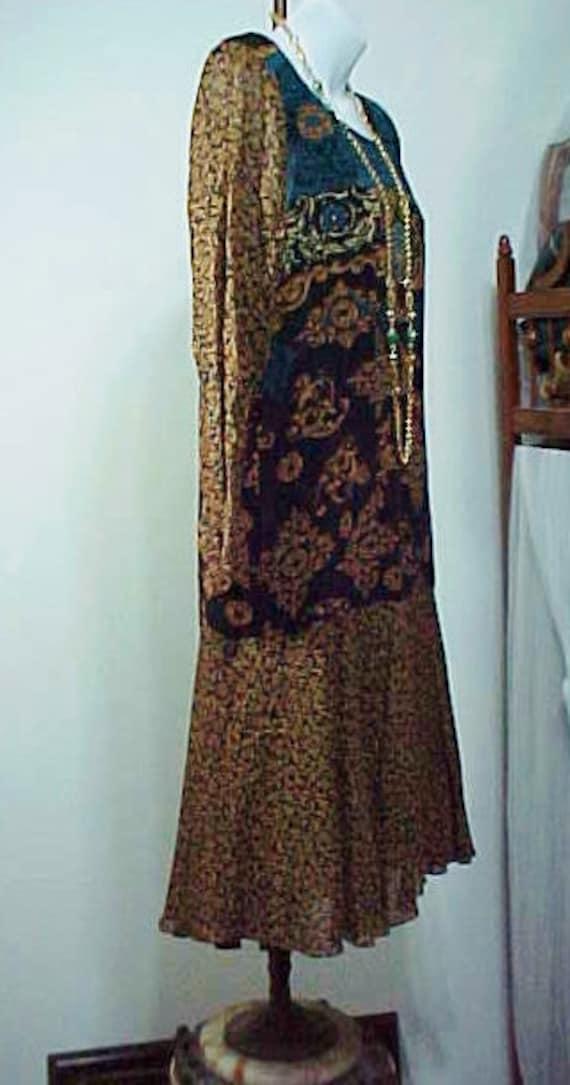 Vintage Boho Flapper Dress, Carole Little Bohemia… - image 7