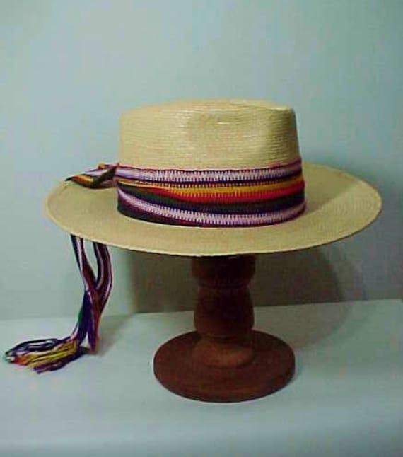 Vintage Straw Hat, Wide Brim Hat, Summer Hat, Fes… - image 4