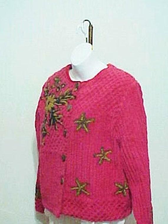 Vintage 70's Jacket, Chenille Jacket, Vintage Cott