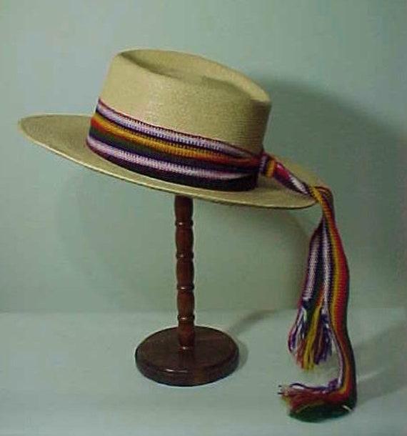 Vintage Straw Hat, Wide Brim Hat, Summer Hat, Fes… - image 5