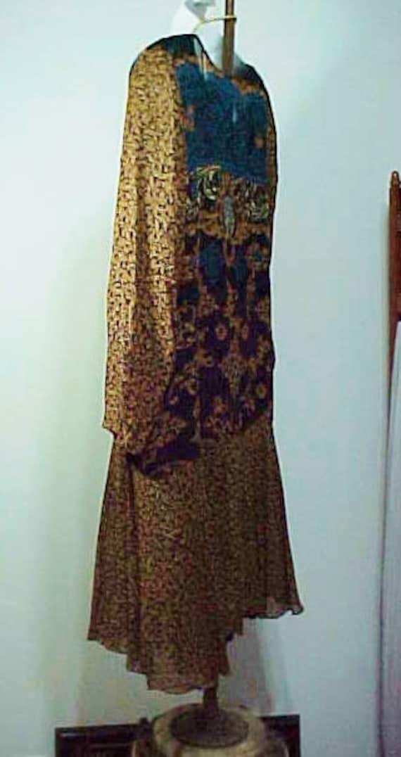 Vintage Boho Flapper Dress, Carole Little Bohemia… - image 4