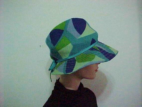 Mod Optic Wool Fedora Hat/1970 Michele Designer Ha